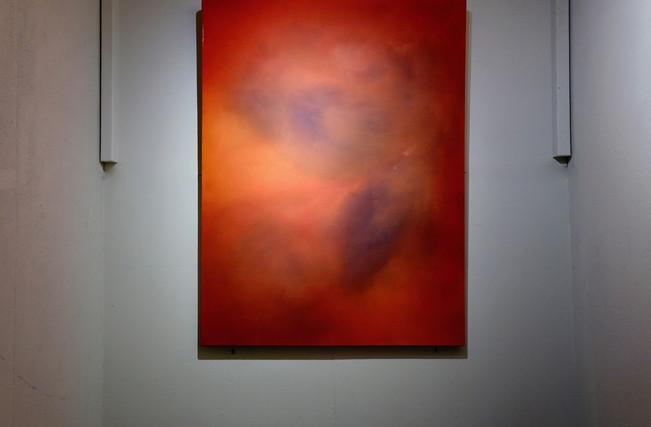 Teheuheu's works for The Nomadic Art Gallery's exhibition Belief in Dunedin