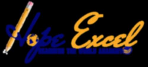 Hope Excel Logo, Pencil, Globe, Books