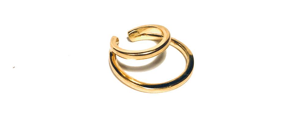 Earcuff 2C Grande (banho de ouro)