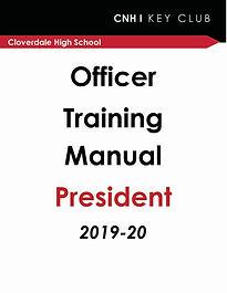 Officer Training -  President 2019-2020