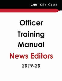 Officer Training - News Editors  2019-20