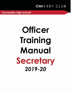 Officer Training - Secretary 2019-2003 c