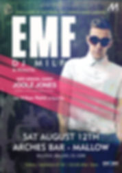 emf dj milf, joolz jones, bishopstown bar cork, 10th august, kilian pettit, red fm