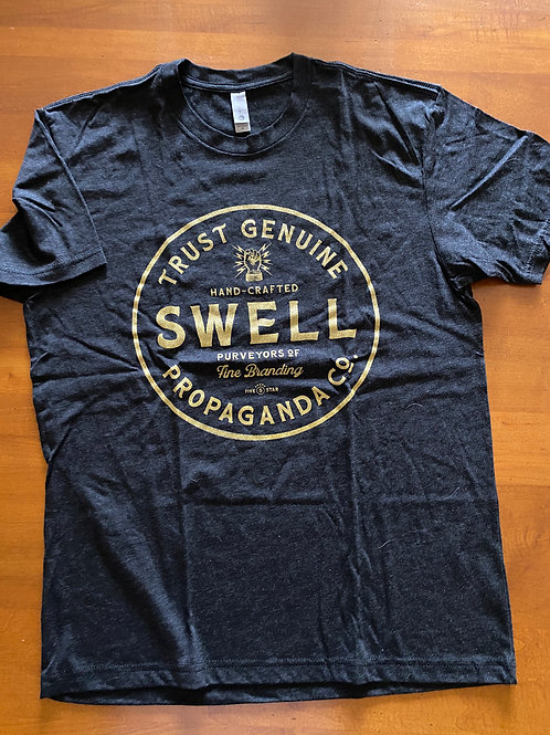 Swell Badge Heather Black Unisex Tee