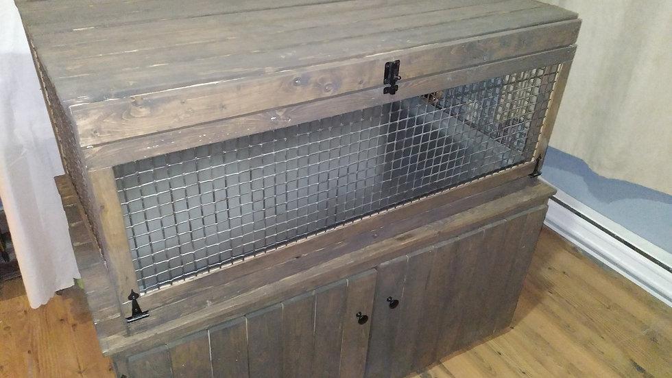 Cage avec rangement unique