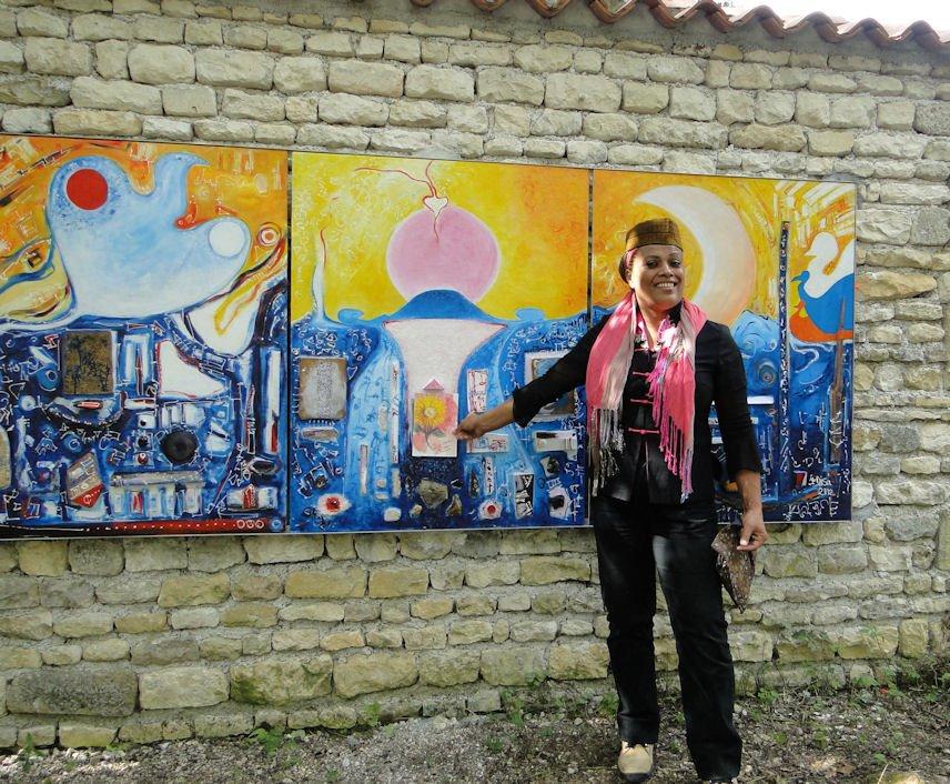 jardin de la paix a Matha - France