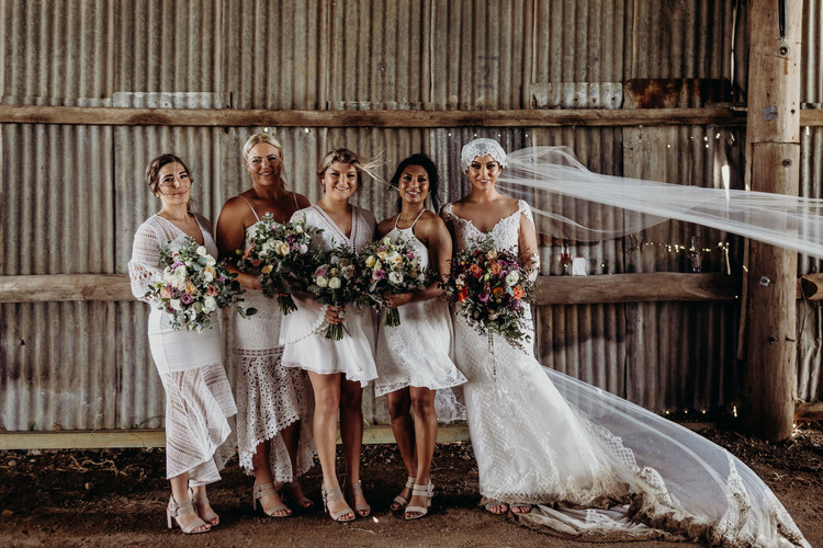 Hannah and her Bride Tribe