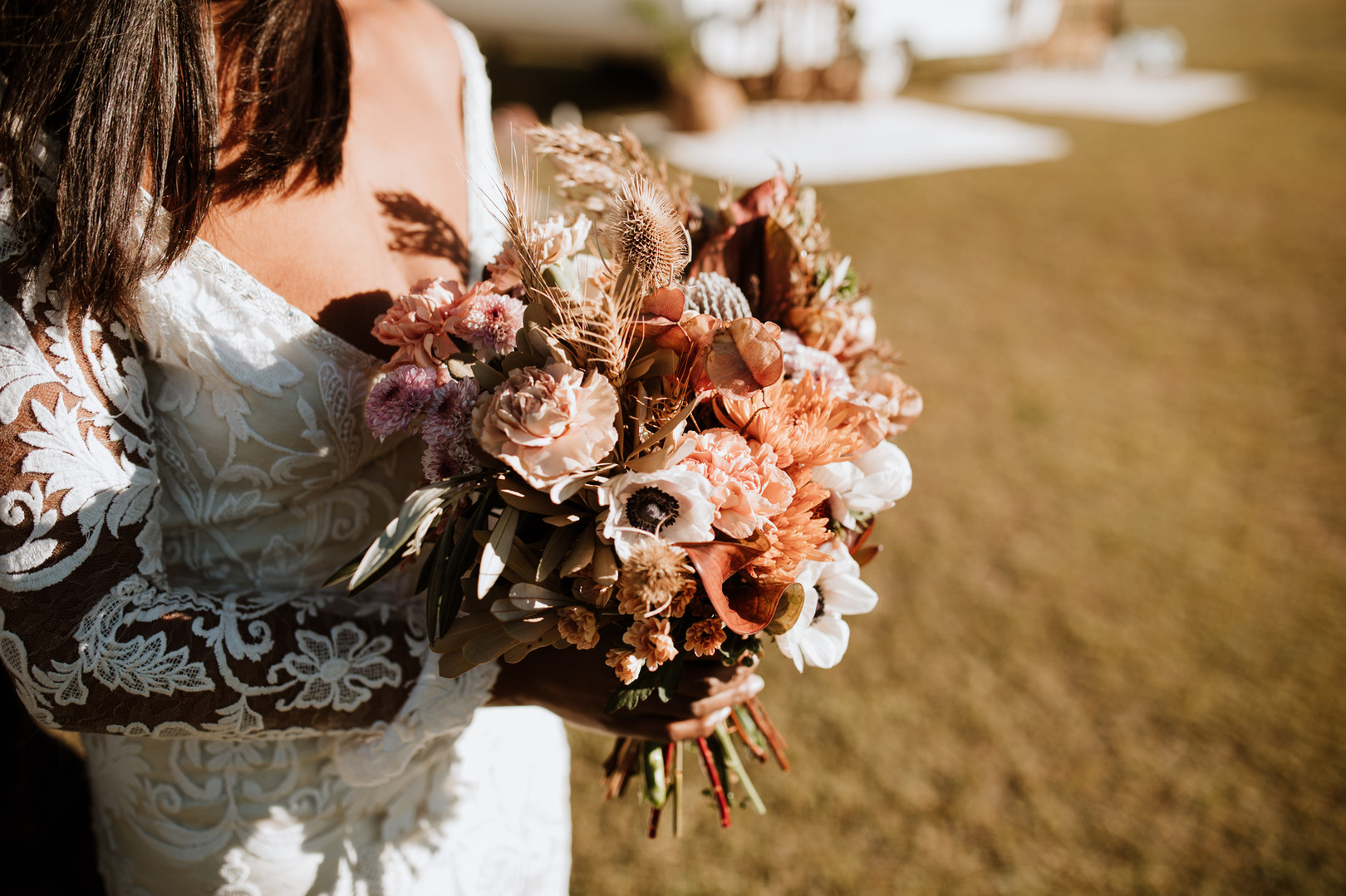 Dried and Wild Bridal Bouquet