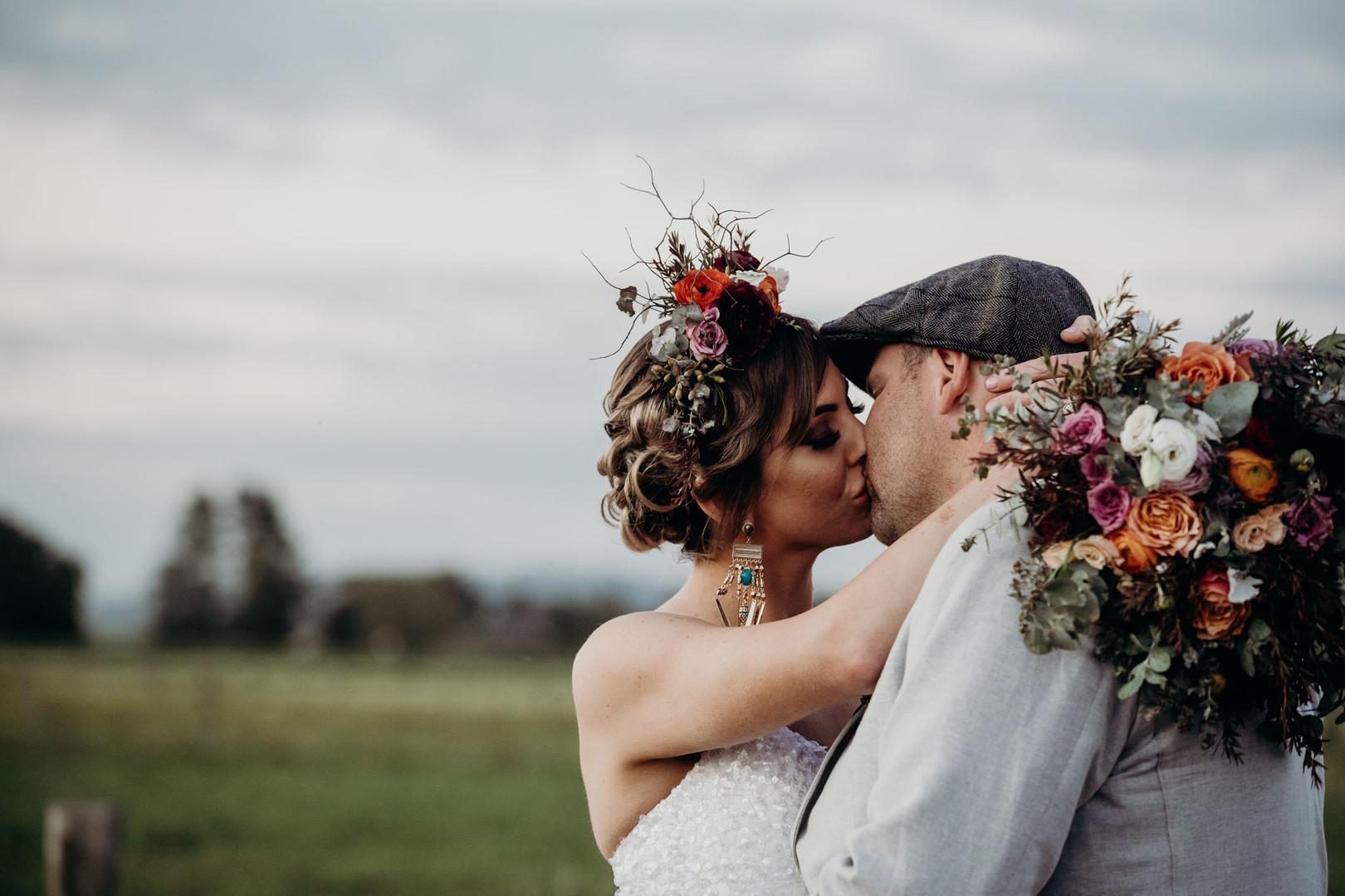 Dark and Moody Bridal Bouquet