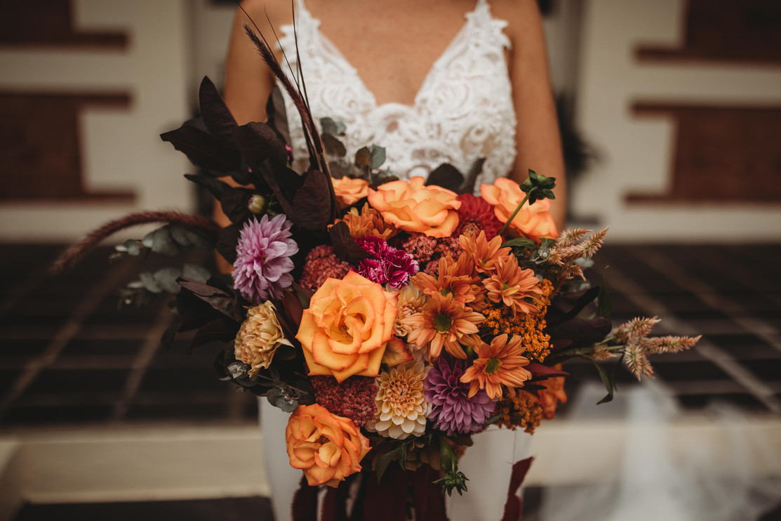 Bright Abstracted Bridal Bouquet