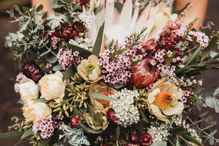 Mixed Native Bridal Bouquet