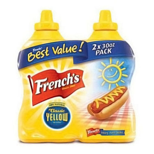 French's Classic Yellow Mustard 30 oz. bottle, 2ct