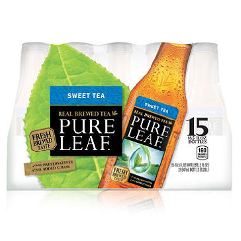 Pure Leaf Unsweetened Iced Tea 18.5 oz. bottles,