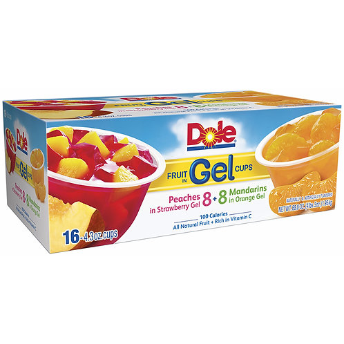 Dole Fruit in Gel Cups Variety Pack, 16 pk./4.3 oz.