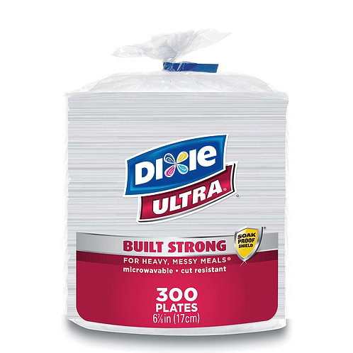 """Dixie Ultra Paper Plates, Heavyweight, 6 7/8"""" (300 ct.)"""