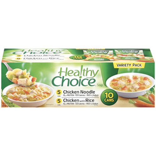Healthy Choice Soup Variety Pack - 10/15oz cans