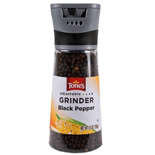 Tone's Black Pepper Grinder - 5.5 oz.