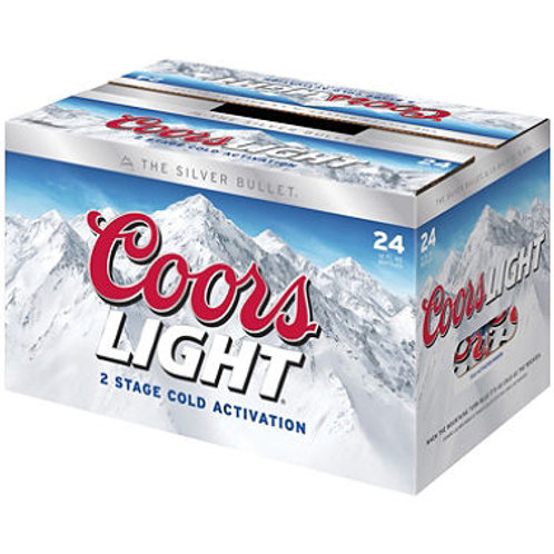 Coors Light Beer 12 oz. bottles, 24 pk