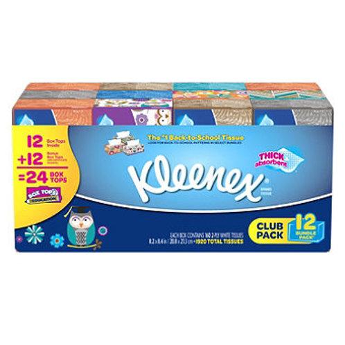 Kleenex Facial Tissue 160 Tissues, 12 pk.