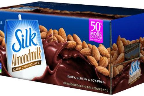 Silk Pure Almondmilk Dark Chocolate, 8 Oz, 18 Pk