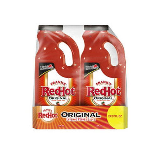 Franks RedHot Cayenne Pepper Sauce 32 oz. jug 2pk