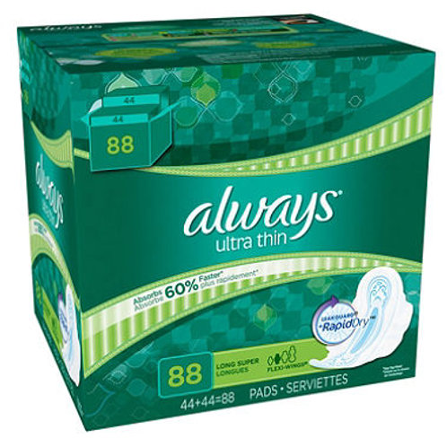 Always Ultra Thin Regular Pads with Wings 96 ct.