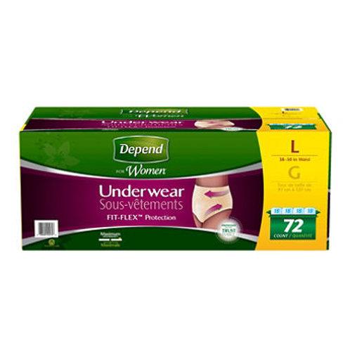 Depend Women Underwear, Large 72 ct
