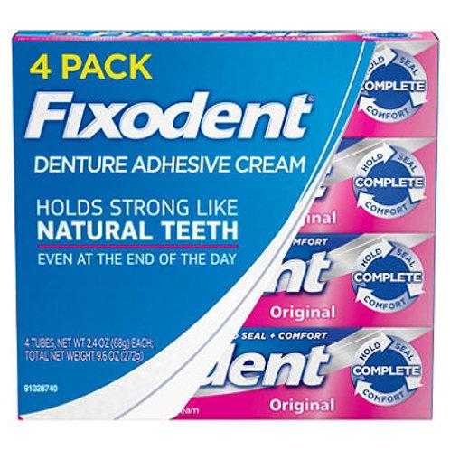 Fixodent Denture Adhesive Cream, Original (2.4 oz., 4 pk.)
