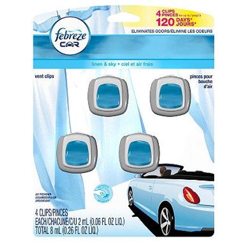 Febreze Car Vent Clips Linen & Sky  (4pk.)