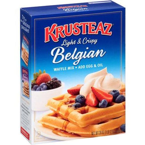 Krusteaz Belgian Waffle Mix, 28 oz