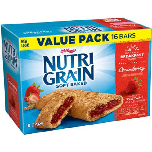 Nutri-Grain Soft Baked Strawberry Breakfast 16 ct