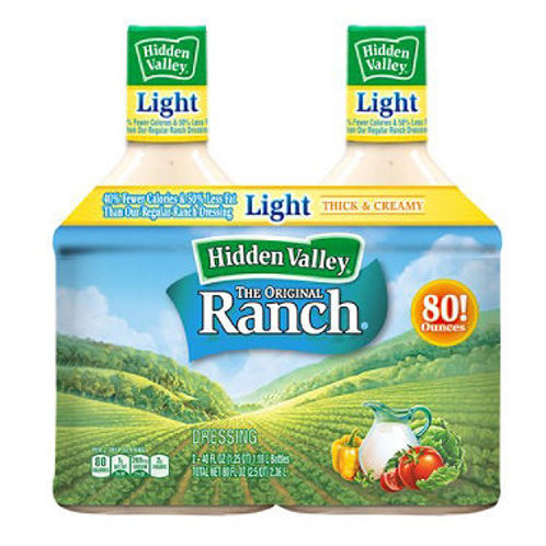 Hidden Valley Ranch Light Dressing 40 oz. 2ct