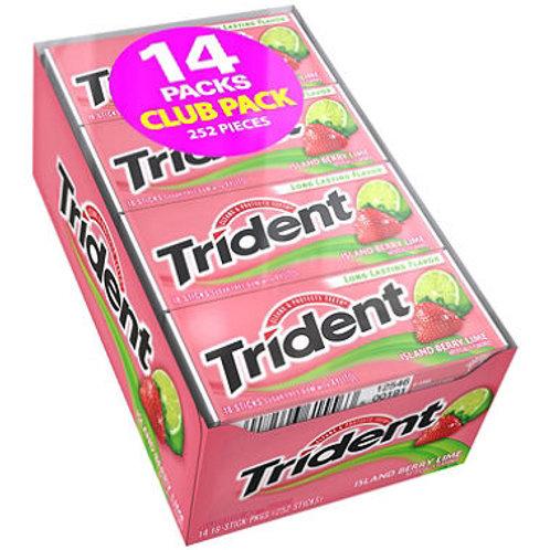Trident Island Berry Lime Sugar Free Gum - 18 ct. - 14 pk