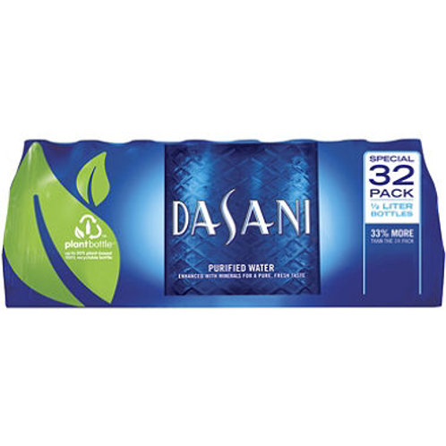 Dasani Bottled Water 16.9 oz. PET bottles, 32 pk