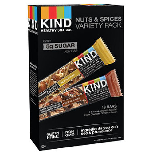 KIND Healthy Snacks, Nuts & Spices Variety Pack (1.4 oz., 18 bars.)