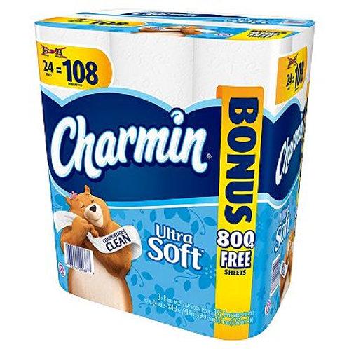 Charmin Ultra Soft Toilet Paper, 24 Bonus Rolls 108 Rolls