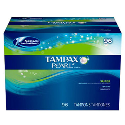 Tampax Pearl Unscented Tampons, Super 96 ct.
