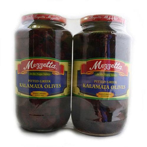 Mezzetta Pitted Greek Kalamata Olives 19oz jar,2ct