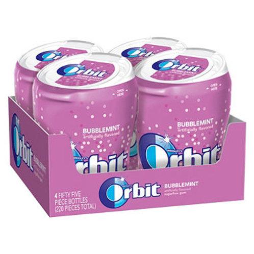 Orbit Bubblemint Sugar-free Gum (4 bottles)