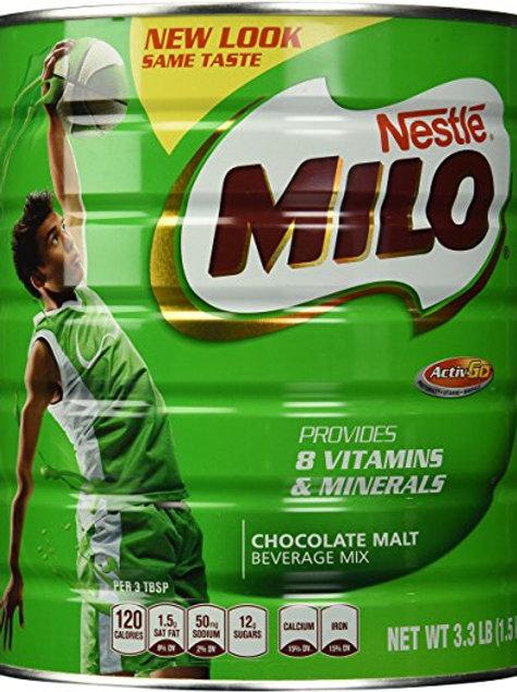 Nestle Milo Chocolate Malt Beverage Mix Jumbo 3.3 Lb Can