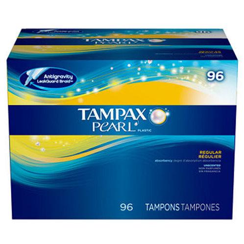 Tampax Pearl Unscented Tampons, Regular 96 ct.