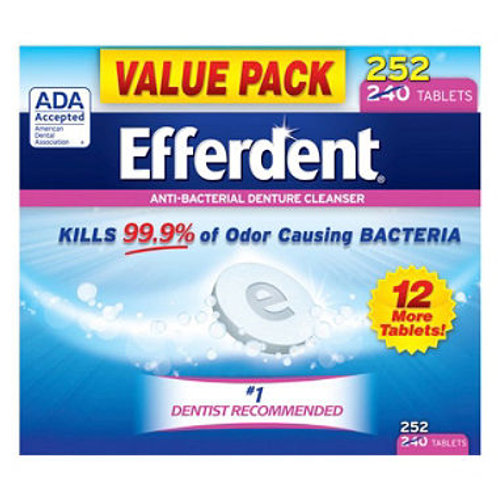 Efferdent Denture Cleanser, Original (252 ct.)