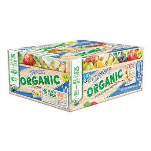 Capri Sun Organic Juice, Variety Pack 6 oz. 40 ct