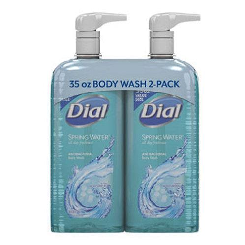 Dial Antibacterial Body Wash, Spring Water 35 fl. oz., 2 pk.