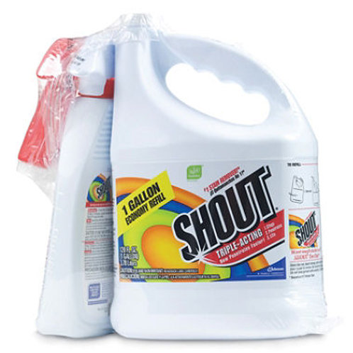 Shout Stain Remover with Trigger Hose 128oz + 22oz