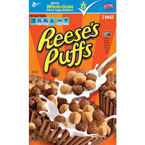 Reese's Peanut Butter Puffs Cereal 49.5 oz., 2 ct
