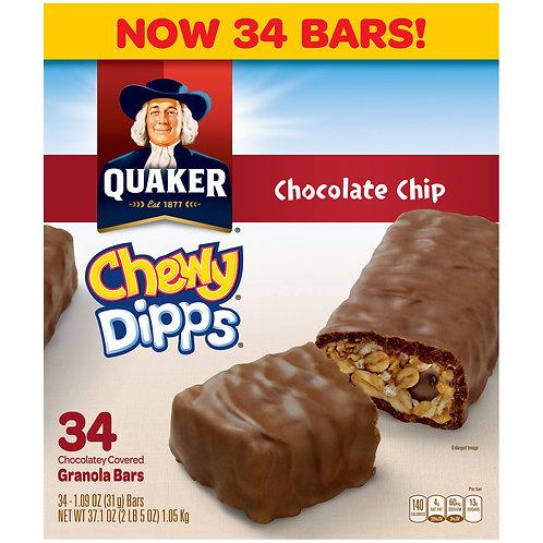 Quaker Chewy Dipps Chocolate Chip Granola Bars, 34 pk./1.09 oz.
