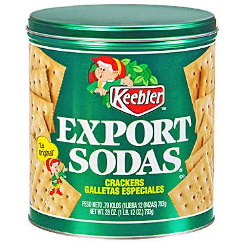 Keebler Export Soda Crackers - 28 oz. tin