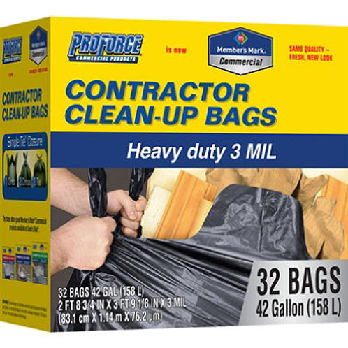 ProForce Contractor Clean Up Bags - 42 gal - 32 ct