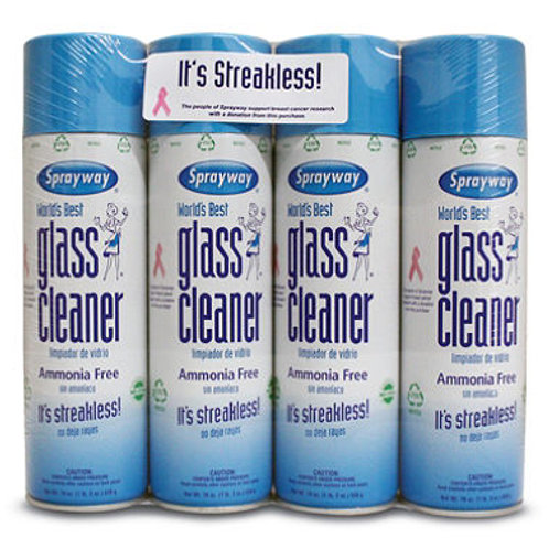 Sprayway Glass Cleaner 19oz., 4pk.